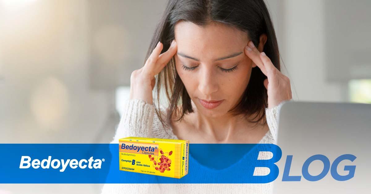 ¿Dolor de cabeza? El complejo B te ayuda en el tratamiento